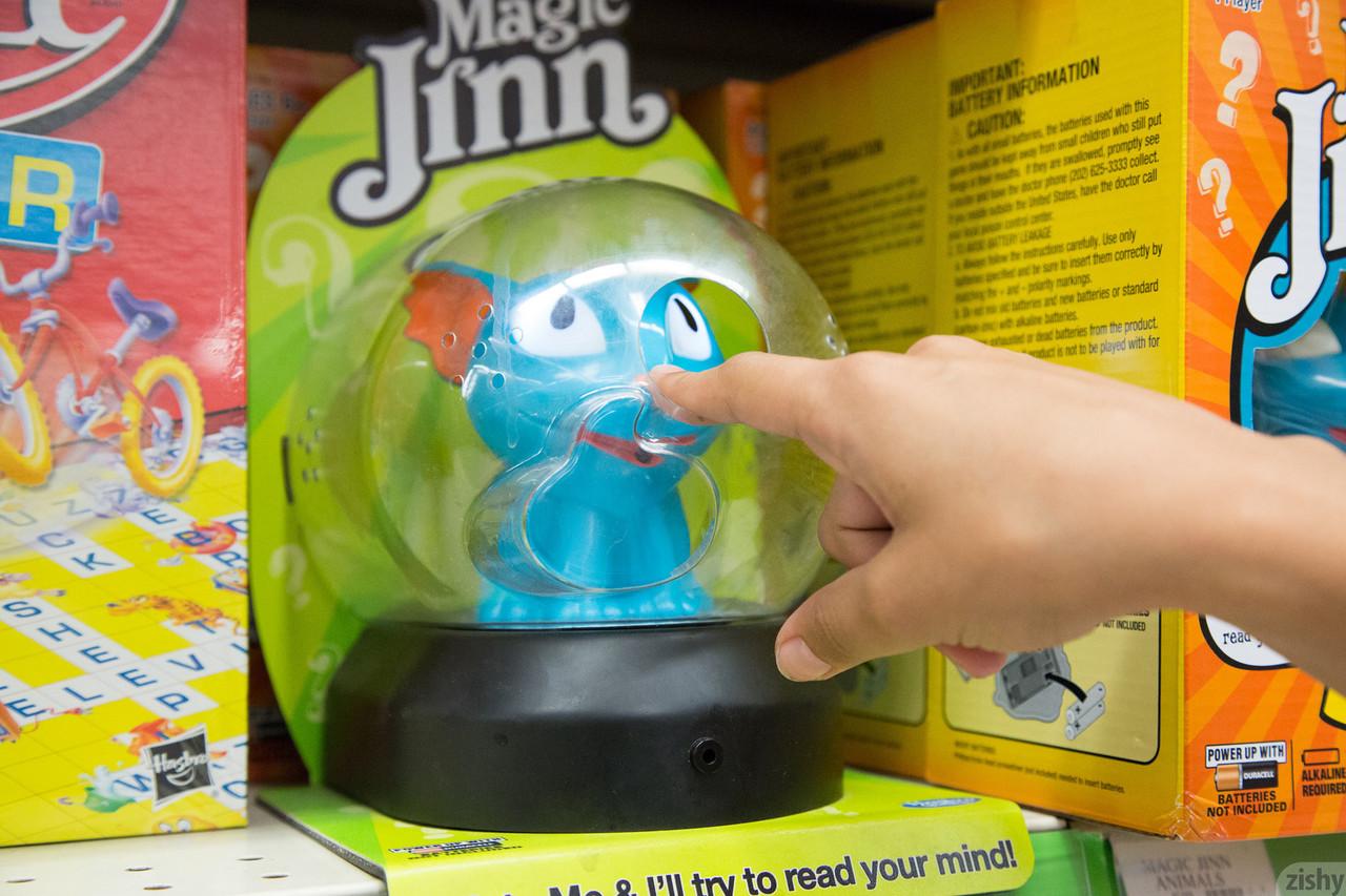 Teen girlfriend Uma Jolie flashing her titties and her ass in a toy store