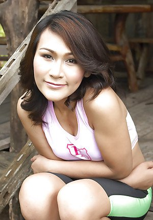Outdoor scenes from latest naked shoot featuring ladyboy Gelly