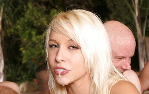 Mandy Armani  Stevie Shae have fun with well-hung guys at the pool party