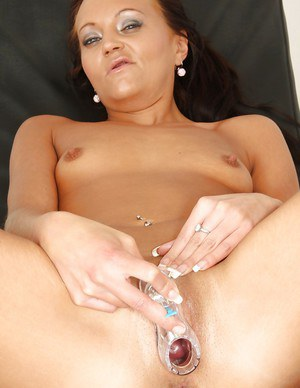 Horny milf with dark hair Eliss loves going through routine check-ups