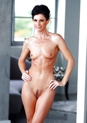 Sexy MILF India Summer posing in robe after taking shower