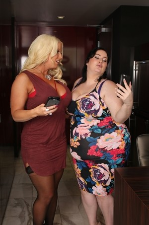 Fat females Eliza Allure and Alura Jensen turn to lesbian sex