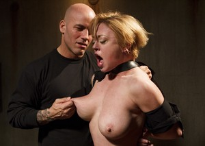 Dee Williams wants to try something new and bald guy ties her up then fucks