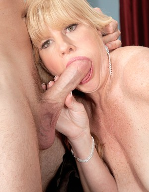 Older 50 lady Dawn Jilling sucks and fucks her younger lovers big dick