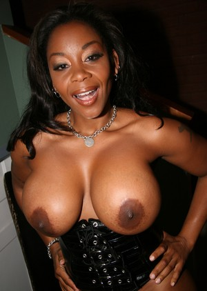 Lusty big tit ebony MILF Kitten blowing off a bunch of horny white men