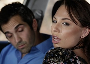 Luscious Aidra Fox gets her snatch slammed by the car by a stranger