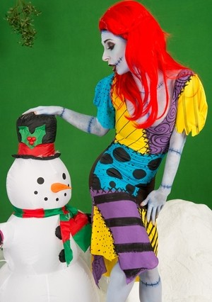 Naughty monster Joanna Angel gets down and dirty with a snowman