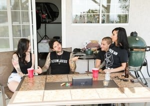 Joanna Angel Vera Drake and Lily Lane come to porn studio for a group fucking