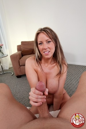 Pretty Carolyn Reese does a hot striptease & gets sweet face covered in cum