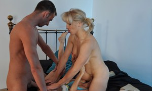 Rebecca More and her best friend suck cock and eat pussy in a threesome