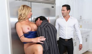 Big boobed blonde Janna Hicks bangs another man in front of her husband