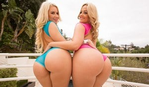 Big ass beauty Alexis Texas  her friend enjoy raunchy pool party groupsex