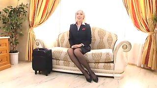 Hose Stewardess Screwed Hard