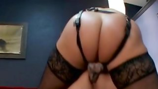 Mistress Dark Brown Uses Thong On To Fuck Male Partner