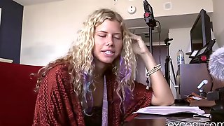 Blonde College Hippie Fucked To Orgasm And Covered In Cum