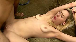Slutty Blond Bitch Gets Banged By 4 Eyed Indian Stud Hard