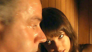 Lucky Old Dude Does Hard A Hot Babe After Sauna