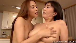 Passionate Japanese Lesbian Enjoys Getting Her Pussy Fingered Close Up