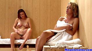 Lezdom Sauna Fun With Redhead Karlie Montana