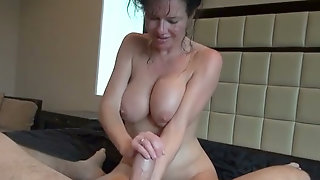 Filthy Nympho With Saggy Tits Rides And Jerks Off Strong Hot Dick