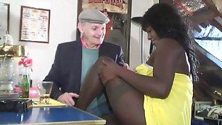 Grandpa Enjoy Watching Couple Fucking Hard