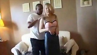 Mature MILF Ridding On A Black Rubberized Dick