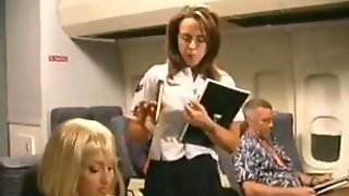 Stewardess Anal Fucking On The Plane