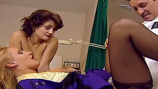 Two Female Patients Seduce One Handsome Doctor And Have Sex Fun