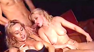 Italian Threesome At Cinema With 2 Blonde MILFs