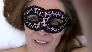 My First Milf In Mask Sucks Cock And Gets Her Pussy Filled With My Semen