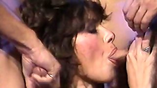 Several Kinky Dawgs Attacked Saggy Mouth Of Dumpy Brunette Tramp