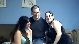 Goth BBW Gal And Her Hot Latina Girlfriend Suck One Cock In Turn