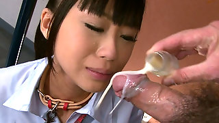 Poor Japanese College Girl Chika Ishihara Eats Food And Sucks Hard Cock