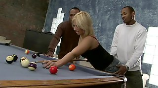 Anal Pleasure For The Sexy Blonde Georgia Peach In Interracial Scene