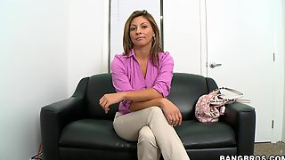Busty Blonde Gets Fucked In Her First Interview