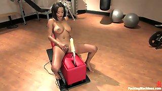 Ebony Hotties Nailed By A Machine