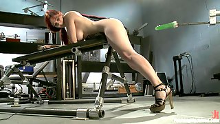 Busty Redhead Has An Orgasm With A Machine