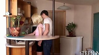Little Blonde Housewife Taken From Behind And Fucked