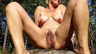 Old Perverted Woman Loves Showing Off Her Fuckhole