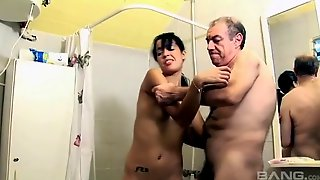 Elderly Man Gets The Opportunity To Relive Her 60s Fucking An Elegant Bimbo Hard