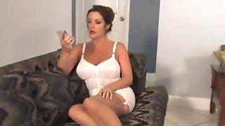 Hot Brunette MILF Gets Tied Up