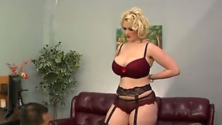 Curvy Blonde Milf Gets Her Asshole Licked To Orgasm