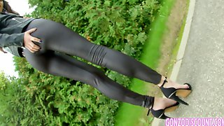 Marvelous Russian Babe In Tight Pants Fucked Doggy Style
