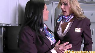 Cockhungry Stewardesses Undress Customers