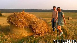 Village Babe Is Groped Up In A Field Once Again