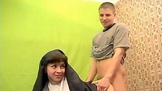 Amateur Nun Slammed Hard