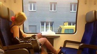 Im Masturbating In Train