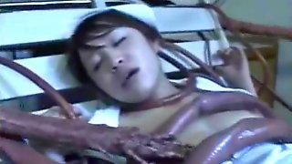 Nurse Gangbanged By Tentacles!