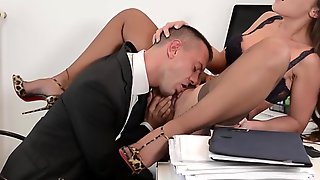 Gangbang Slut In High Heels Starving Of Cum