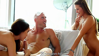 Abby Cross Gives Man Threesome Surprise
